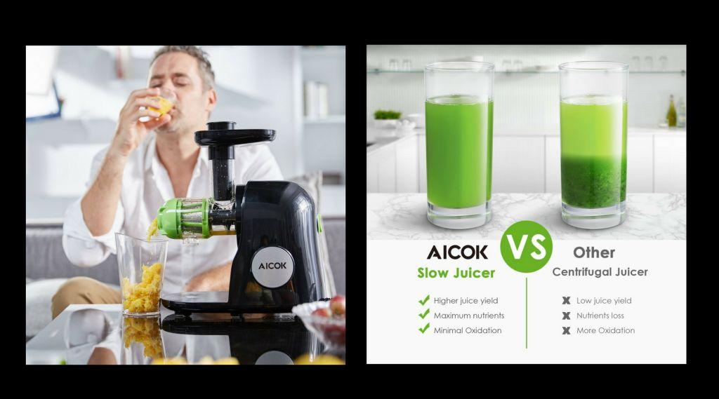 Healthy Living Slow Juicer Natural Juice Extractor : Aicok Slow Masticating Juicer Extractor Review Archives - Natural Home Cures-Herbal Remedies For ...